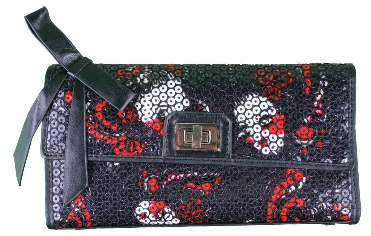 Iron Fist Party Kiss Black Sequined Purse