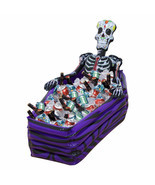 KCASA Skull Inflatable Cooler Skeleton Drink Ice Bucket Halloween Party ... - £41.55 GBP