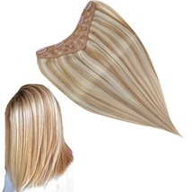 RUNATURE V Clip in Real Human Hair Extensions 16 Inches Color 12P60 Dirty Blonde