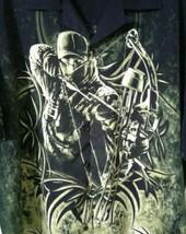 Buck Wear Archery Print Sz XL Hunters Collared Black Green Button Down Man Shirt - $22.88