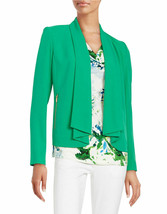 CALVIN KLEIN ~Sizes 4 & 6~ Zip Pocket Flyaway Work Office Blazer Green J... - $54.99