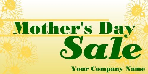 3x6 Vinyl Banner - Generic Mothers Day Sale