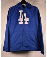 Boys Youth Kids Los Angeles LA Dodgers Zip Up Fleece Lined Hoodie Track ... - $29.70