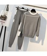 Autumn 2 Pieces Set Knitted Pullovers Sweater Casual Stripe Knit Jumper ... - $130.20+
