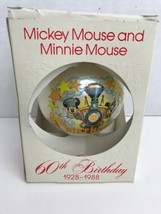 Schmid Gallery Mickey Mouse Minnie 60th  Birthday Ornament Railroad Disney Train - $12.86