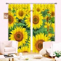 3D Sunflower 411Blockout Photo Curtain Printing Curtains Drapes Fabric Window UK - $145.49+
