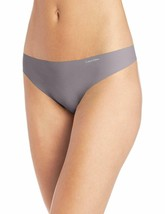 Calvin Klein Women's Invisibles Silver Lock Thong Panty D3428-073