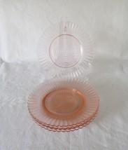 MacBeth Evans, Petalware, Pink Sherbet Plates, circa 1930-40 - $12.00