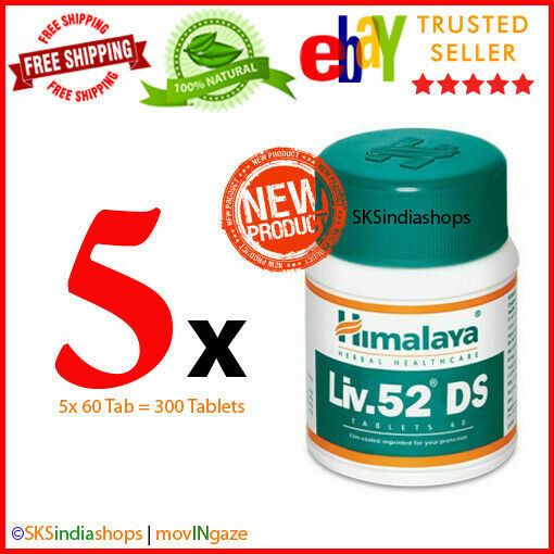 Primary image for 5x Himalaya Herbal Liv.52 DS 60 Tablets Liver Care EXPIRY SEP 2022