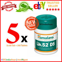 5x Himalaya Herbal Liv.52 DS 60 Tablets Liver Care EXPIRY SEP 2022 - $19.98