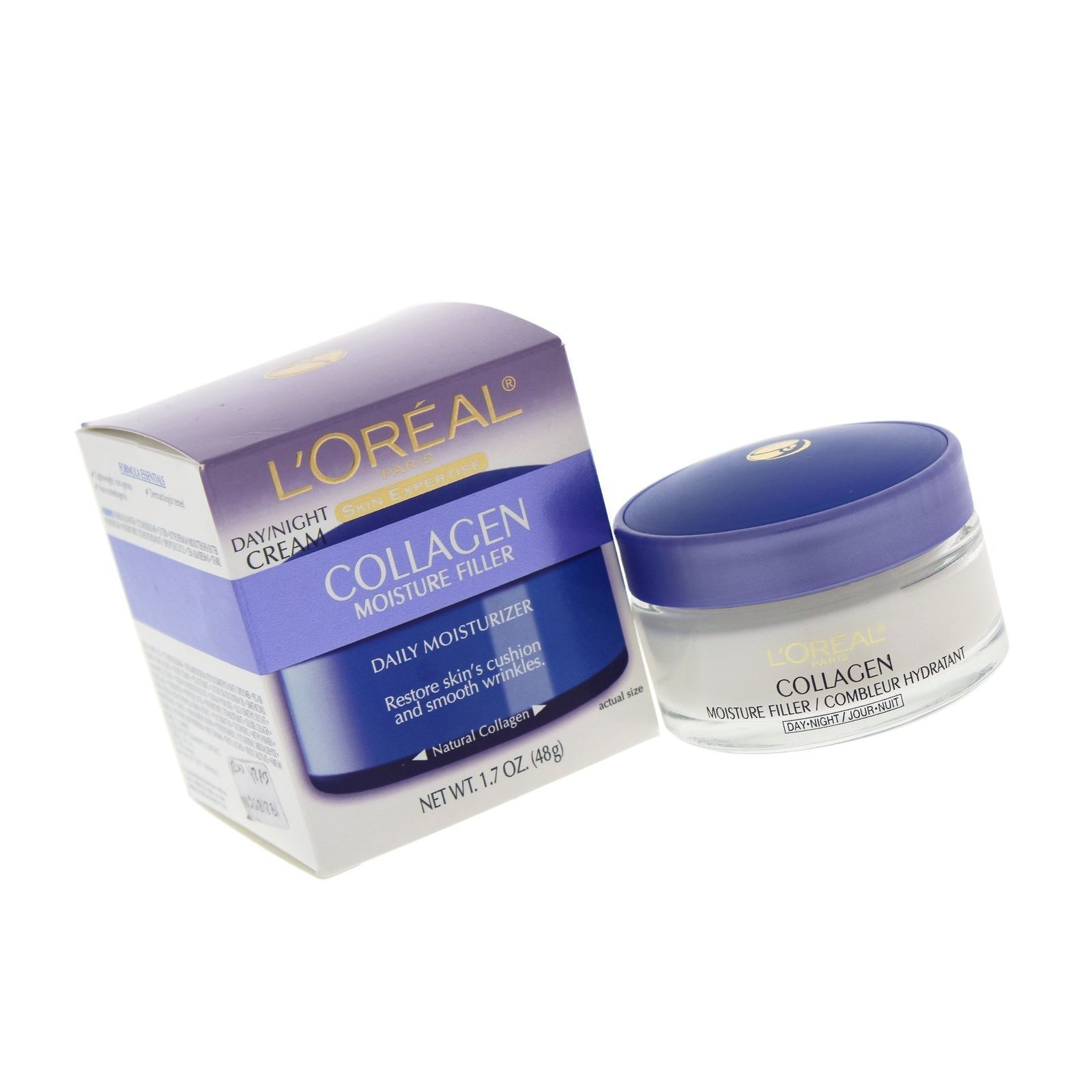 L'Oral Paris Collagen Moisture Filler Facial Day Night Cream, 1.7 oz. 1 Count