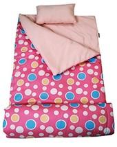 SoHo Kids Sleeping Bag 50 Degree, Pink Dot Blush - £29.65 GBP