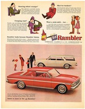 Vintage 1964 Magazine Ad Rambler Leads Because Rambler Listens Insist on... - $5.93