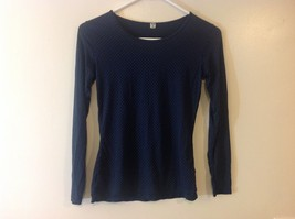 Uniqlo Women's Navy Blue Lt Weight Long Sleeve Pullover Shirt Sz S
