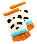 D & Y Womens Kids Knot Winter Hand Gloves Flip Top Panda Bear Wool Blend... - $17.99