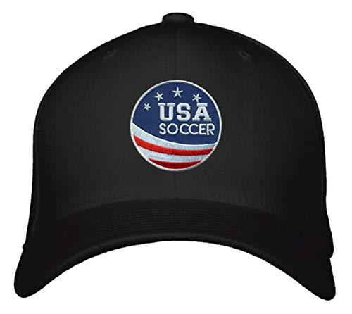 USA Soccer Hat - Adjustable Black Snapback Unisex Cap Summer Olympics