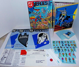 Vintage 1985 DC Heroes Role Playing Game RPG Box Set w Manuals Screen Ch... - $168.25