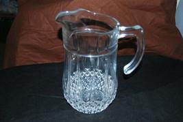 "50 ounce Cristal d'Arques Longchamp crystal pitcher 8-1/2"" high - $14.85"