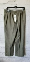 Alfred Dunner Women's Palm Dessert Green  Cactus Elastic Dress Pants sz... - $17.82