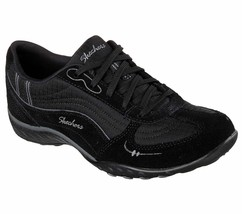 NEW Womens Skechers Breath Easy-Just Relax Fashion Sneakers Size 7 Black... - $37.39