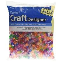 Darice Pony Beads 6 By 9Mm 720/Pkg, Transparent Multi.. - $12.99