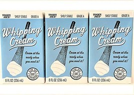 Trader Joe's Shelf Stable Whipping Cream Cream at the Ready When You Need It 8 F