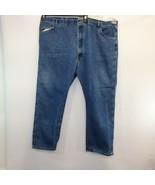 Wrangler Straight Leg Jeans Denim W50 x L30 Mens Relaxed Cotton Blend - $19.76