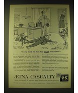 1960 Aetna Casualty Insurance Ad - Cartoon by George Price - $14.99