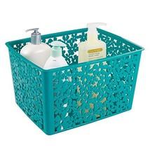 mDesign Floral Bathroom Vanity Organizer Bin for Health and Beauty Produ... - $15.79