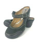 White Mountain Mohawk 8.5 M Brown Suede Leather  Mary Jane Wedge Sandals... - $39.59