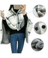 Women Multi-functional Home Blanket Shawl Ponchos Capes Winter Thick War... - $34.19+