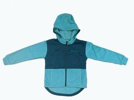 Columbia Girls Full Zip Fleece Hoodie Jacket Geyser Heather/Aegean Blue - $22.99