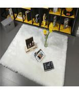 Imitation Wool Carpet for Bedroom Living Room Dorm room soft, thick WHIT... - $178.47