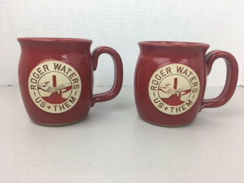 Primary image for Roger Waters Us and Them Tour VIP Stoneware Mug Pink Floyd Set Of 2
