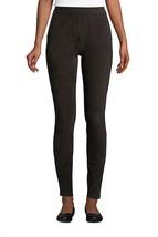 Lands' End Sport Knit High Rise Corduroy Leggings Deep Black M NEW 420127 - $21.76