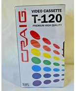 Set of 3 Craig VHS Video Cassette T-120 Blank Premium High Quality Seale... - $14.99