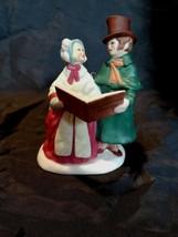 "1991 Hallmark Fine Porcelain Merry Christmas Figurine ""Merry Carolers 1991"" - $6.92"