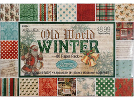 """The Paper Studio Old World Winter Cardstock, 4.5"""" x 6.5"""", 80 Sheets #633941"""