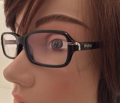Miu Miu Prada Glasses Eyeglass Frame Black Rectangle VMU05G Nerd Preppy ... - $43.43