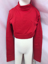 Body Wrappers Bw Prowear Jubeln Jumper Turtleneck Crop , Rot, Kind 4-6, Neu - $12.96