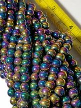 """7mm Rainbow Magnetic Hematite Round Beads 15.5"""" Strand image 4"""