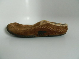 Sorel Brown Suede Slippers Mens Size 10 - $27.99