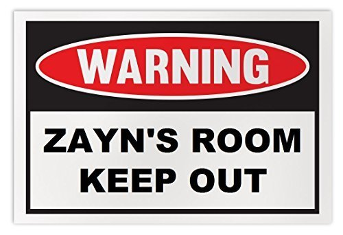 Personalized Novelty Warning Sign: Zayn's Room Keep Out - Boys, Girls, Kids, Chi