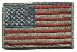 """Hook Fastener Compatible Patch USA Flag Forward SBD SLVR 3x2"""" - $4.46"""