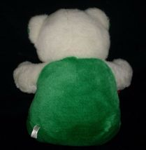"20"" VINTAGE CHRISTMAS ENESCO WHITE GREEN RED TEDDY BEAR STUFFED ANIMAL PLUSH TOY image 3"