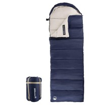 Outdoor Zipper Bedding Envelope Style Sleeping Bag with Case and Straps ... - $55.99