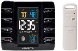 AcuRite 13020 Intelli-Time Projection Alarm Clock with Temperature and U... - $48.88