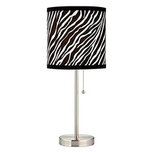 Pull-Chain Table Lamp with Zebra Drum Shade - $40.30