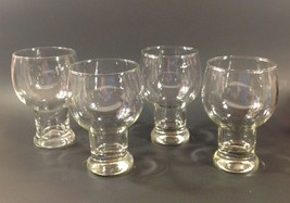 Vintage Federal Glass Thick Hollow Stem Glasses... - $34.16