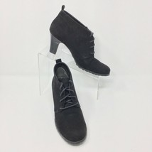 Aerosoles Lace Up Bootie, Size 8.5, Black Suede Leather, - $21.57